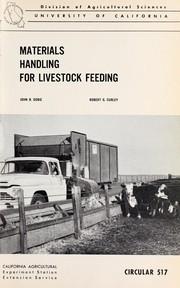 Materials handling for livestock feeding PDF