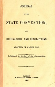 Journal of the State Convention, and ordinances and resolutions adopted in March 1861 PDF
