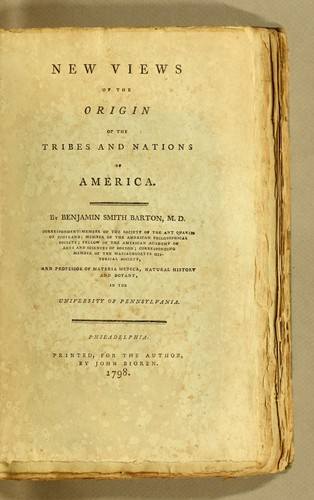 New views of the origin of the tribes and nations of America