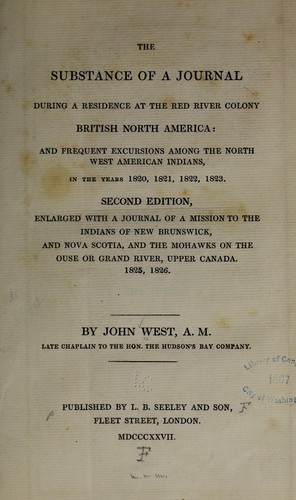 Download The substance of a journal during a residence at the Red River colony, British North America