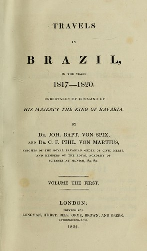 Download Travels in Brazil, in the years 1817-1820