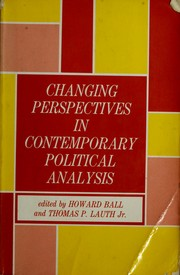 Changing perspectives in contemporary political analysis