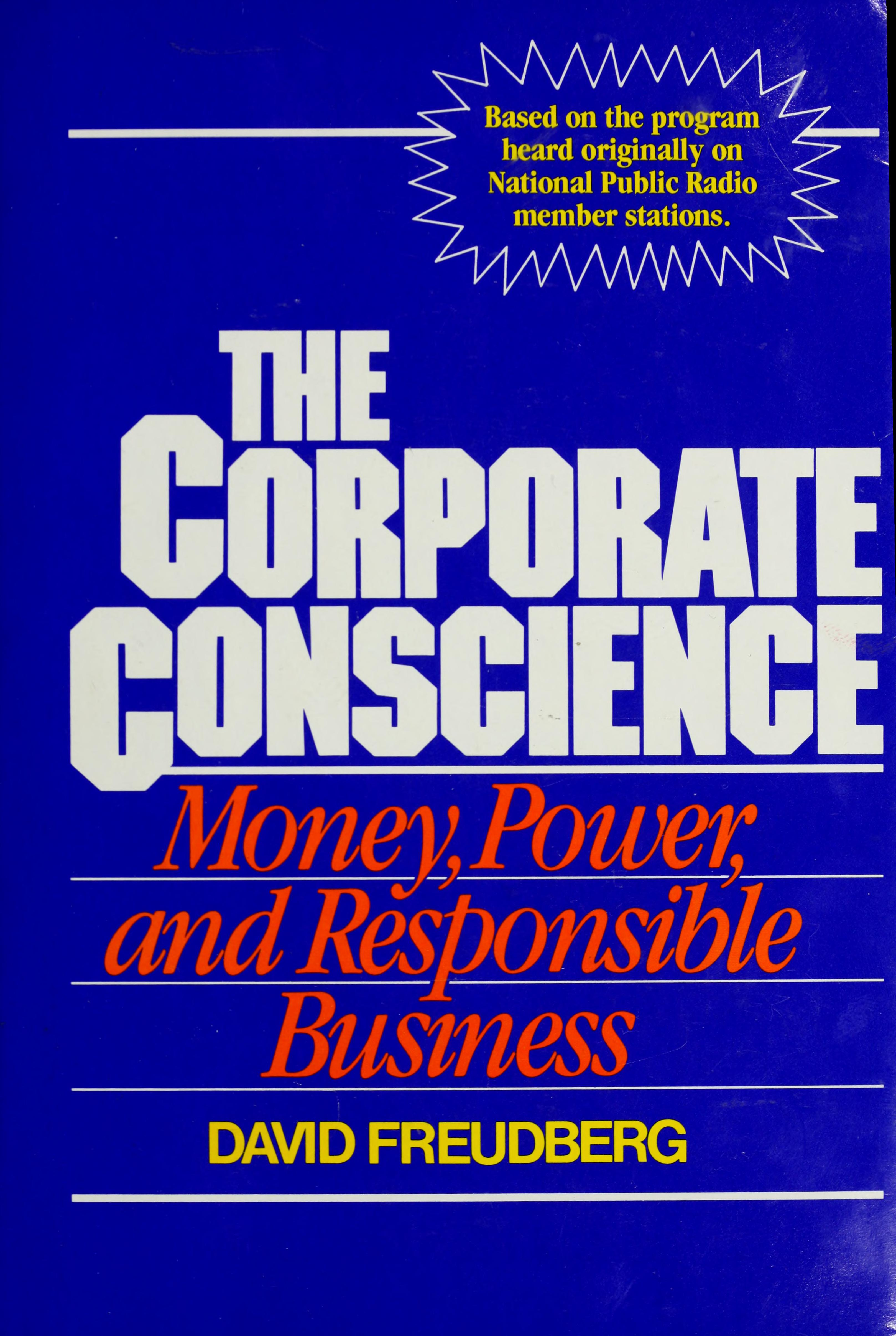 The corporate conscience Download Book PDF