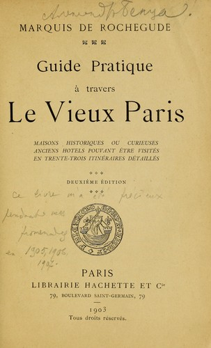 Download Guide pratique à travers le vieux Paris