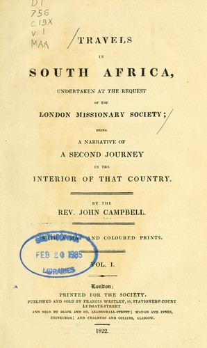 Travels in South Africa, undertaken at the request of the London missionary society