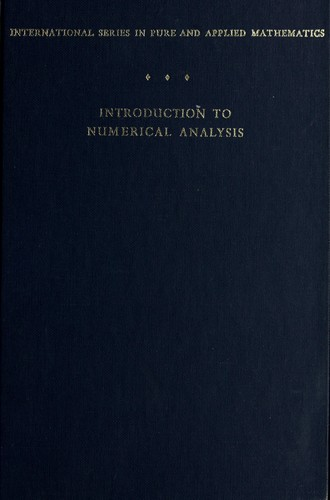 Introduction to numerical analysis.