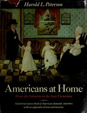 Americans at home: from the Colonists to the Late Victorians PDF