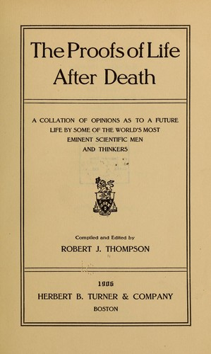 Download The proofs of life after death