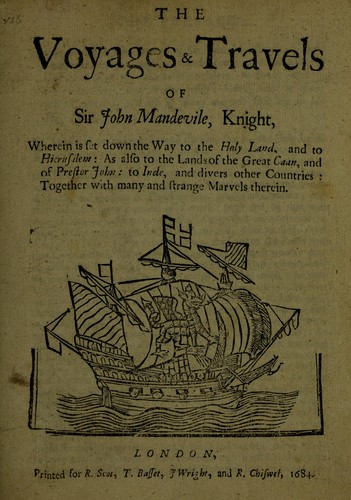 Download The voyages & travels of Sir John Mandevile, Knight