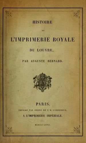 Download Histoire de l'Imprimerie royale du Louvre