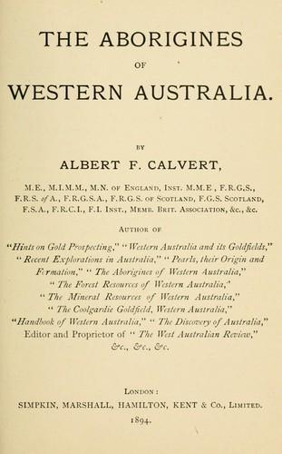 The aborigines of western Australia.