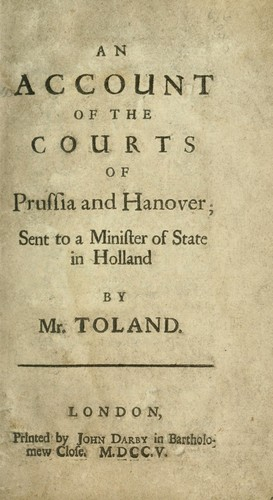 Download An account of the courts of Prussia and Hanover