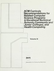 ACM curricula recommendations for related computer science programs in vocational-technical schools, community and junior colleges, and health computing PDF
