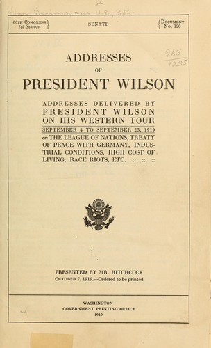 Addresses of President Wilson.