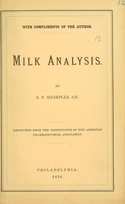 The adulteration of milk and method of detecting it by analysis PDF