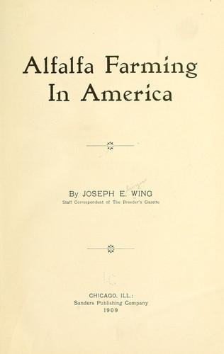 Alfalfa farming in America