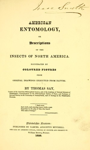 American entomology, or Descriptions of the insects of North America.
