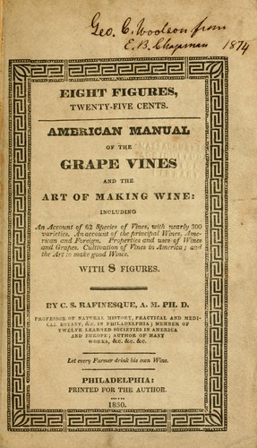 American manual of the grape vines and the art of making wine