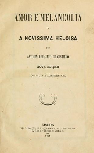 Amor e melancolia, ou, A novissima Heloisa.