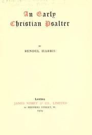 An early Christian psalter