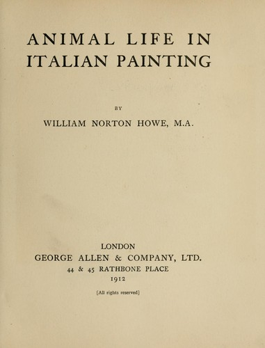 Animal life in Italian painting