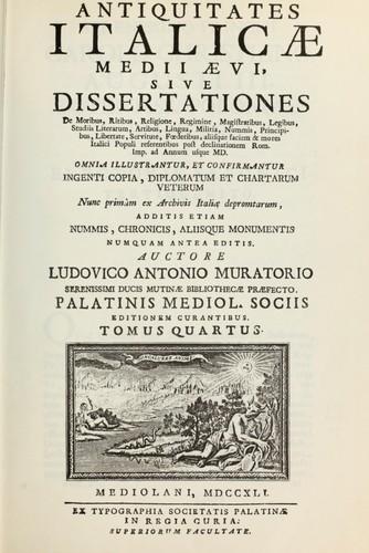 Download Antiquitates italicae medii aevi