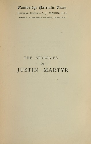 Download The  Apologies of Justin Martyr