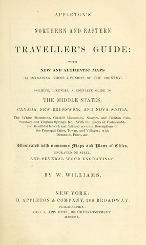 Appleton's northern and eastern traveller's guide by W. Williams