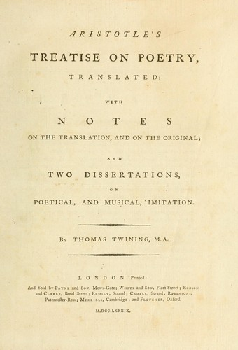 Download Aristotle's treatise on poetry