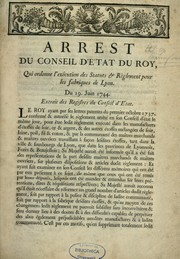 Arrest du Conseil d'Etat du roy, qui ordonne l'ex PDF