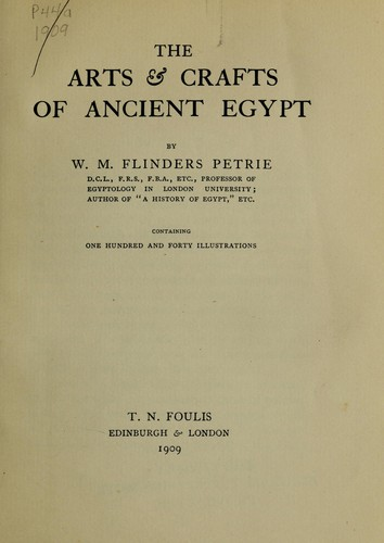 Download The arts & crafts of ancient Egypt.