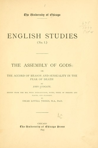 The assembly of gods: or The accord of reason and sensuality in the fear of death
