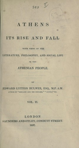 Download Athens, its rise and fall.