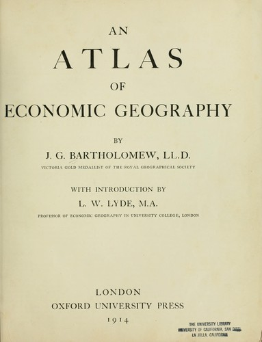 Download An atlas of economic geography.