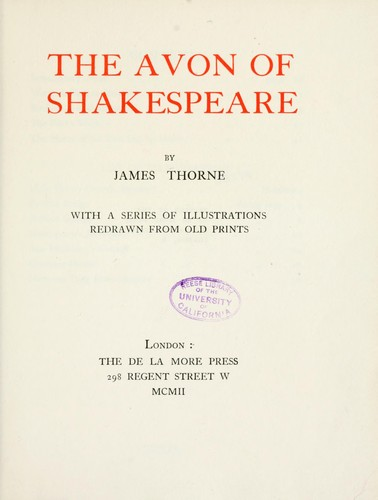Download The Avon of Shakespeare