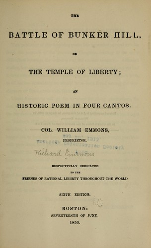 Download The battle of Bunker Hill, or, The temple of liberty