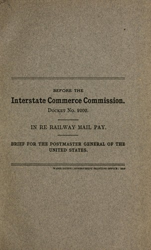 Before the Interstate commerce commission.