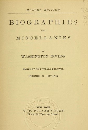 Download Biographies and miscellanies