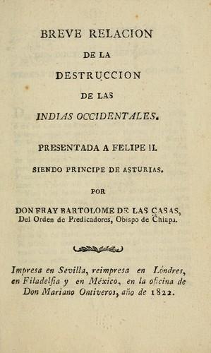 Download Breve relacion de la destruccion de las Indias Occidentales …