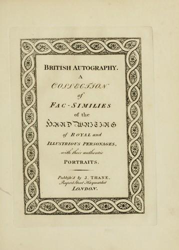 British autography.