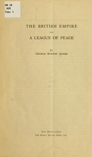 Download The British empire and a league of peace