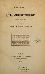 Catalogue des livres anciens et modernes, rare et curieux, de la librairie Auguste Fontaine PDF
