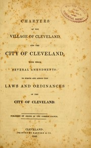 Charters of the Village of Cleveland and the City of Cleveland, with their several amendments PDF