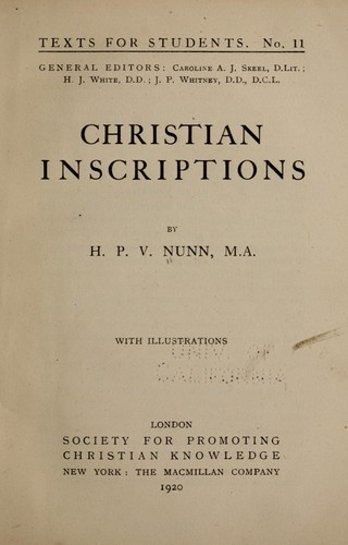 Download Christian inscriptions