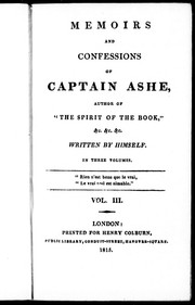 Memoirs and confessions of Captain Ashe by Ashe, Thomas