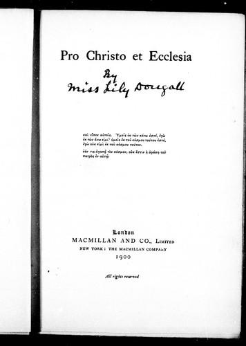 Pro Christo et ecclesia