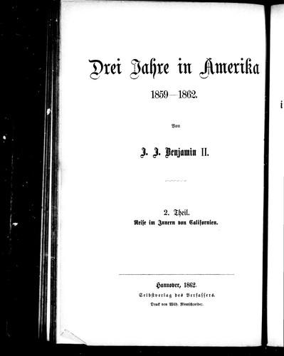 Download Drei Jahre in Amerika, 1859-1862