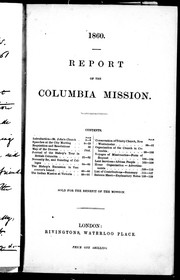 Report of the Columbia Mission by Columbia Mission.