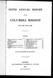 Fifth annual report of the Columbia Mission for the year 1863 by Columbia Mission.