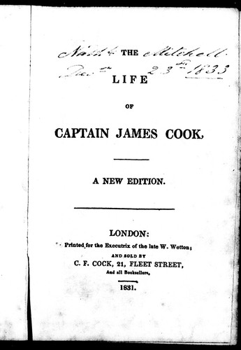 Download The life of Captain James Cook